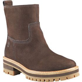 Timberland Courmayeur Valley Faux Fur Boots Women dark walnut